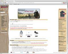 Cotswold Outdoor - 2001 website screenshot