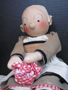 "Becassine_French Cloth Doll_14"" Original Georgene from terisantiquesanddolls on Ruby Lane"
