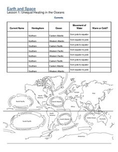 Collection of Ocean Currents Worksheet - Bloggakuten