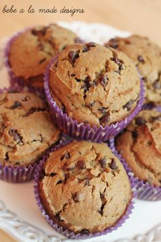 Perfect for fall- semi homemade Pumpkin Chocolate Chip Muffins. Quick, easy and delicious!