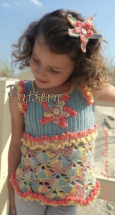 Pattern for Sunset Starfish  Clam Shells by LoveLoriCrochet, $9.00