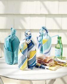 Dish Towel Picnic Carrier | Step-by-Step | DIY Craft How To's and Instructions| Martha Stewart