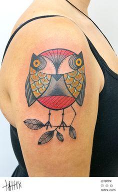 Owl tattoo by Marlen McKey
