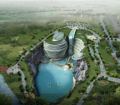 The proposed Shimao Shanghai Wonderland Hotel @ Tianmashan Mountain