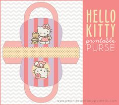 Click here to download a FREE Hello Kitty printable purse!