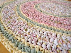 rag rugs, rug round, pink rag rug