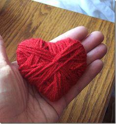 cuore lana e cartone