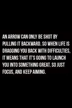 Focus and keep aiming >>>