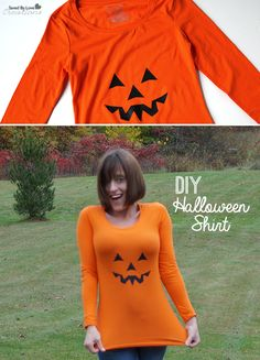 How to Make a Pumpkin Halloween DIY Tshirt with @savedbyloves @silhouetteam
