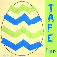 Simple eggs with tape!