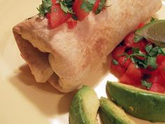 dinner, yesterfood, bake chimichanga