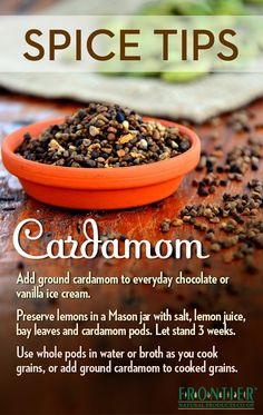 Ways to use #cardamom #spice #tips