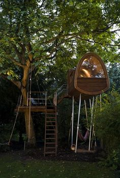 A very nice tree house