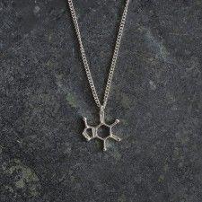Caffeine Molecule Pendant