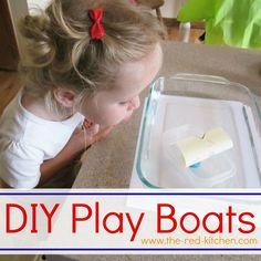 DIY Play Boats (Mini Tutorial & Preschool Activity)    www.the-red-kitchen.com