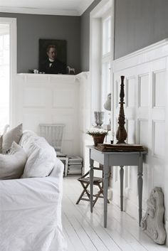 Gray and white in the living room