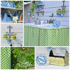 Outdoor Potting Bench   Cottage at the Crossroads
