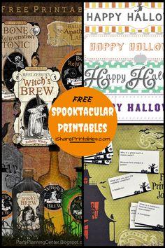 Halloween Spooktacular Printables!