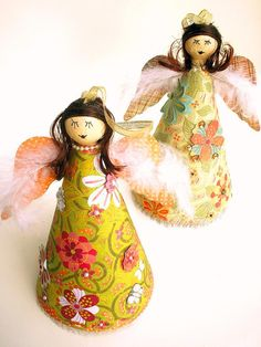 Easy Christmas Craft: Decoupage Angels : Decorating : Home & Garden Television