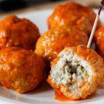 Blue Cheese Stuffed Buffalo Meatballs   Inspired by Charm