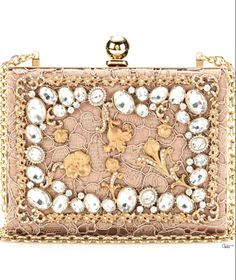 Dolce & Gabbana ● Crystal-embellished lace box clutch