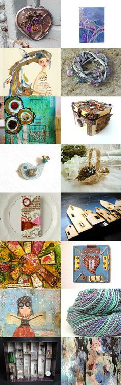 pin exchang, busi pin, etsycom treasuri, amaz mix, mixed media, media idea, mix media, small, media monday