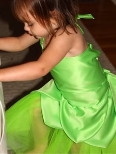 scarlet's tinkerbell costume tute - easier than it looks.