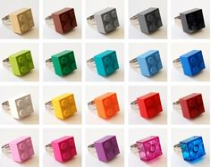 LEGO Brick ring ... chose your color. 80s Geek, Retro, Fun jewelry