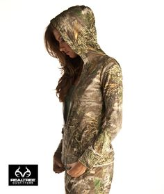 realtree girl camo hooded jacket