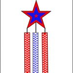Memorial Day flag craft for kids