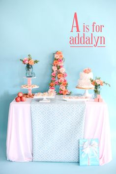 Project Nursery - Alphabet First Birthday Party