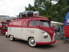 coca cola vw bus. cool! #vintage