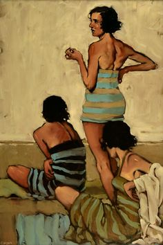">The American contemporary artist Michael Carson graduated from the Minneapolis Institute of Art and Design in 1996. After having worked a while as a graphic artist, he started painting full time in 2001.  His work is primarily figurative, the artist says:""I like the fact that the face can be such a subtle subject"