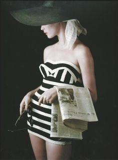 BW Stripes 1953, photo by Milton H. Greene