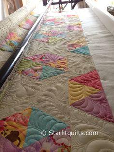 another view of Garden Bliss. Customer quilt. starlitquilts.com