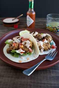 Shrimp Po'Boy Tacos  |  Chez Us