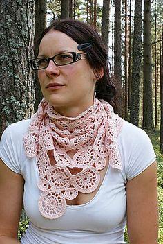 free circle crochet scarf pattern