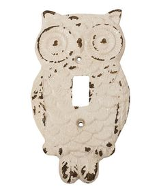 White Owl Light Switch Cover