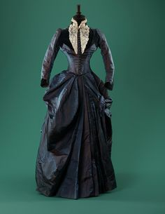 Late 1880s dress. Moscow City Museum exhibition Fashion in the mirror of history: 200 years of fashion