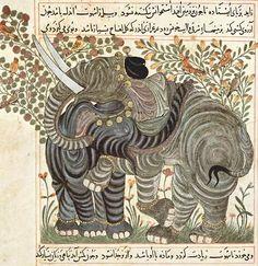 Elephants, Iran, ca. 1294-1299