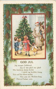 christma card, christmas cards, vintage, vintag xmas, norwegian christma