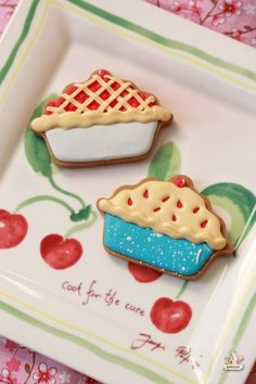 Very cute: Cherry pie cookies (for a good  cause) by Sweetopia.