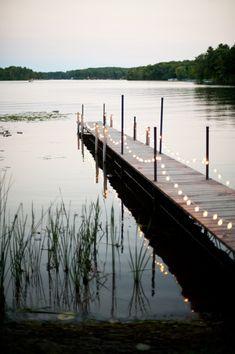 lights on the dock