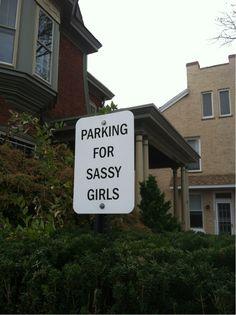 Sassy parking
