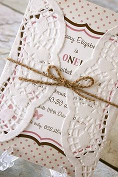 wrap an invitation in a doily