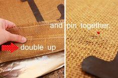 Burlap Pillow: How to Make a Burlap Pillow | DIY Home Decor