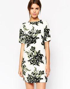 $91.46 Floral T-Shirt Dress