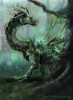 Tree dragon by Esmerra.deviantart.com on @deviantART