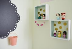 cute little girl's room corner made fun and functional.