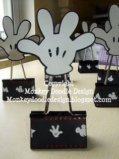Mickey Mouse Hand Binder Clip by moooki - Cards and Paper Crafts at Splitcoaststampers